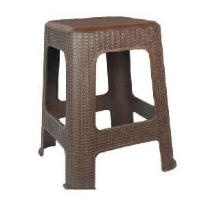 Brown Plastic Seating Stool