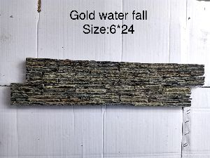 Gold Water Fall Mosaic Tiles