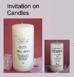 Invitation on Candle