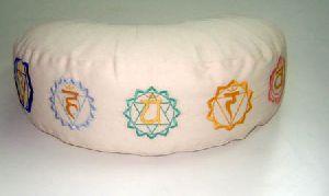 White Meditation Moon Cushion