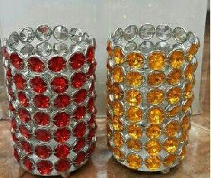 Designer Crystal Candle Holder
