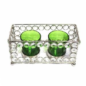 Rectangular Crystal Candle Holder