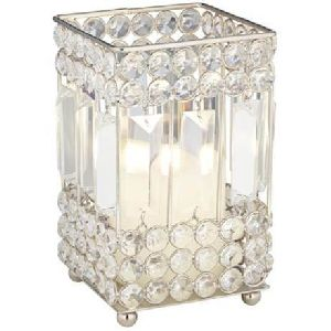 Square Crystal Candle Holder
