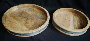 Wooden Round Serving Tray