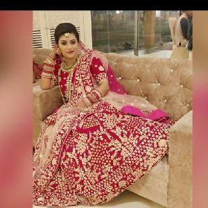 Red Bridal Lehenga Choli Embroidery Services