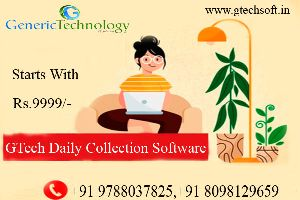 GTech Daily Collection Finance Software Starts Rs 9999 Only