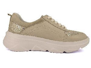 Ladies Super Gold Sneakers