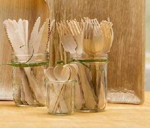 Palm Leaf Cutlery Set
