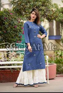 Blue Kurti Palazzo Set