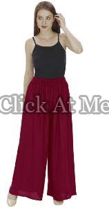 Maroon Palazzo Pant