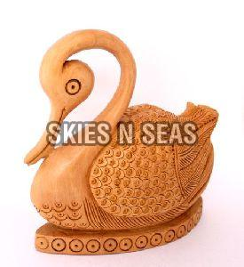 Wooden Carved Swan