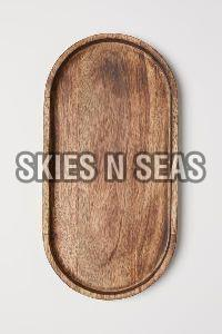 Wooden Oval Tray
