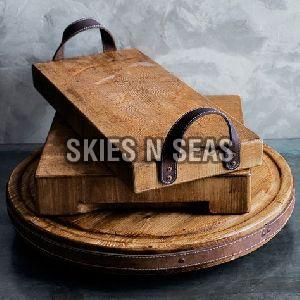 Wooden Rectangular Tray