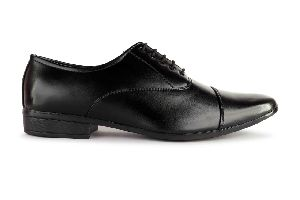 Black Leather Formal Lace Shoes