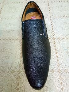 Black Leather Moccasins Shoes