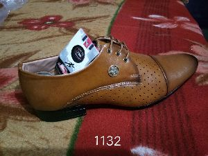 Brown Leather Formal Lace Shoes