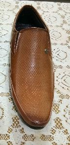 Brown Leather Moccasins Shoes