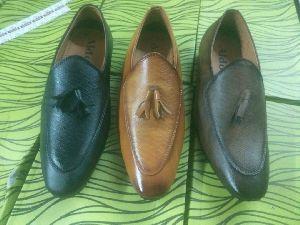 Designer Leather Moccasins Shoes