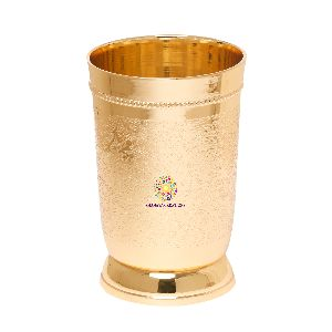 Brass Embossed Glass