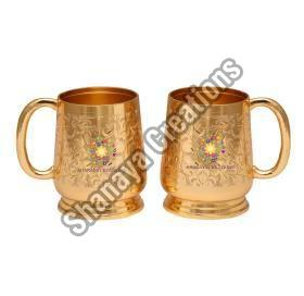 Brass Beer Mug Set