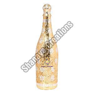 Brass Champagne Bottle
