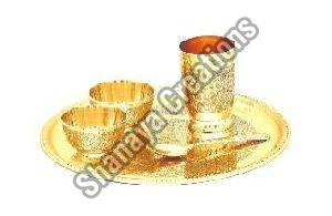 Brass Dinner Thali Set