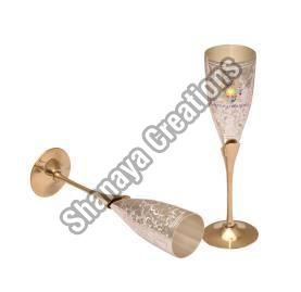 Brass Flute Champagne Glass