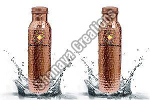 Copper Water Bottle Set