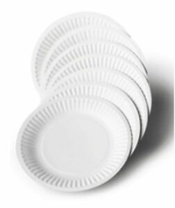 Disposable Plain Paper Plates