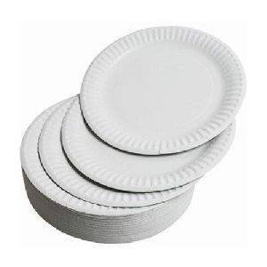 Disposable White Paper Plates