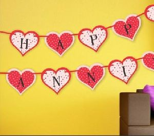 Anniversary Heart Banner
