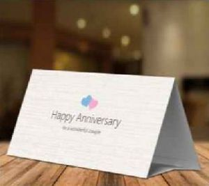 Anniversary Paper Table Tent Card