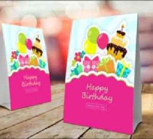 Birthday Paper Table Tent Card
