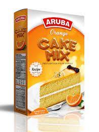 Orange Sponge Cake Mix