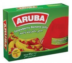 Vegetarian Strawberry and Banana Flavored Jelly