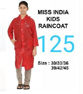 Miss India Girls PVC Raincoat