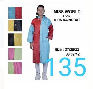 Miss World Girls PVC Raincoat