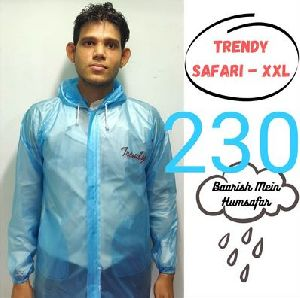 Trendy Mens PVC Raincoat