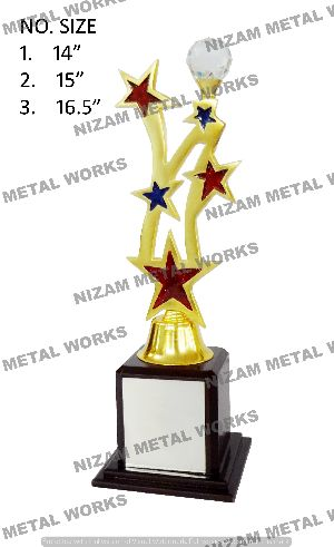 Colored Star Trophy