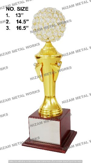 Gold Plated Brass Trophy