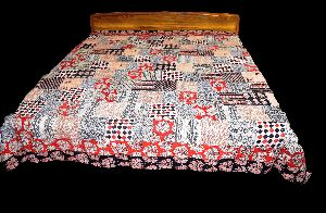 BED COVER HAND BLOCK PRINTED PATCHWORK