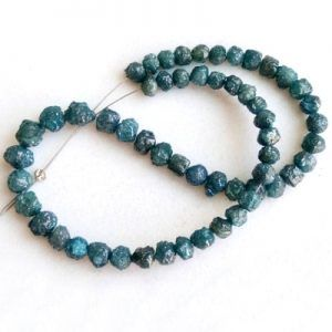 Blue Uncut Diamond Beads