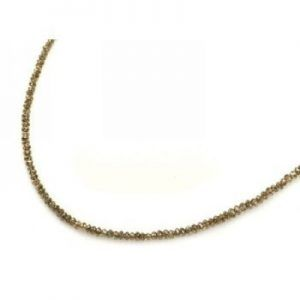 32 Inch Natural Brown Diamond Beads Necklace