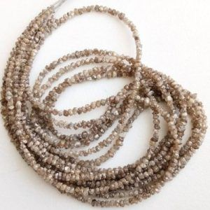 Brown Uncut Diamond Beads