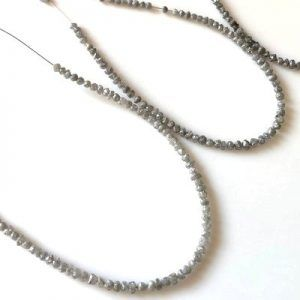 Gray Uncut Diamond Beads