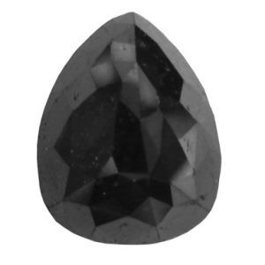 Pear Cut Black Diamond