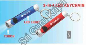 3 In1 LED Keychain