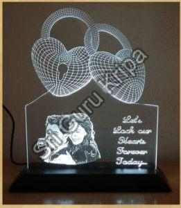 3D Illusion Acrylic Lamp with LED Light