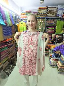 Indian Deities Printed Handmade Kurta