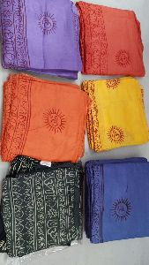Sanskrit Mantra Printed Cotton Pareos